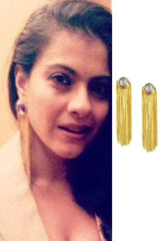 Red & Gold Valliyan Tassel Earrings