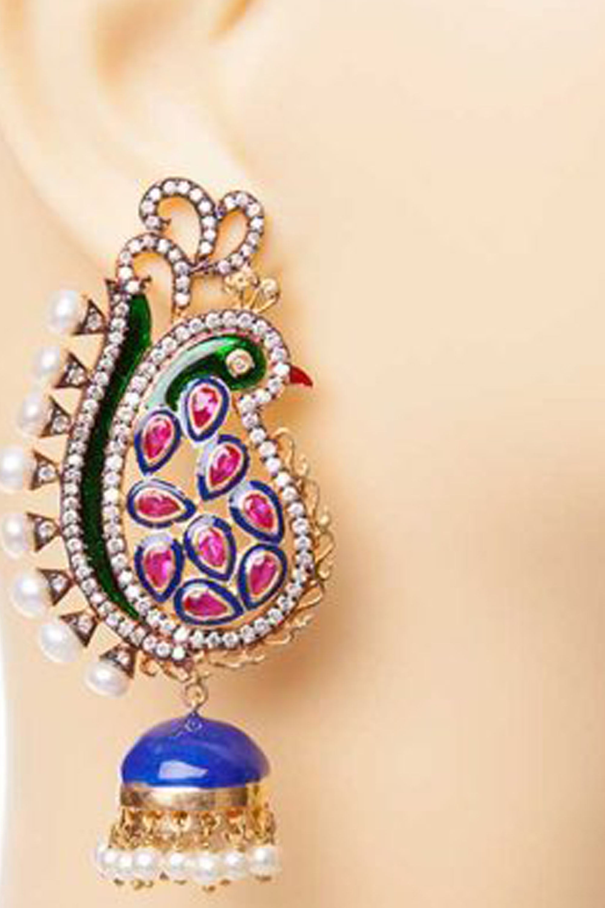 Blue & Pink Moraya Earrings