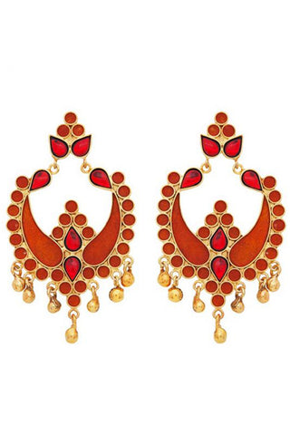 Red Payal Earrings