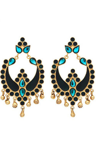 Blue Payal Earrings
