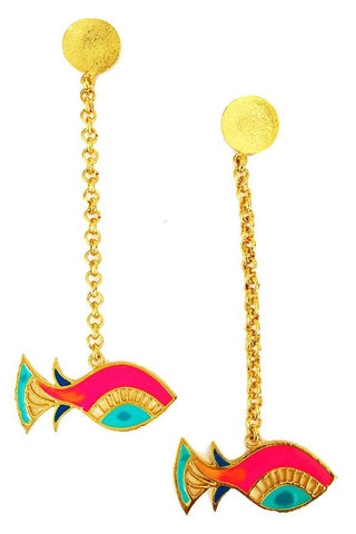 Single Fish Earrings