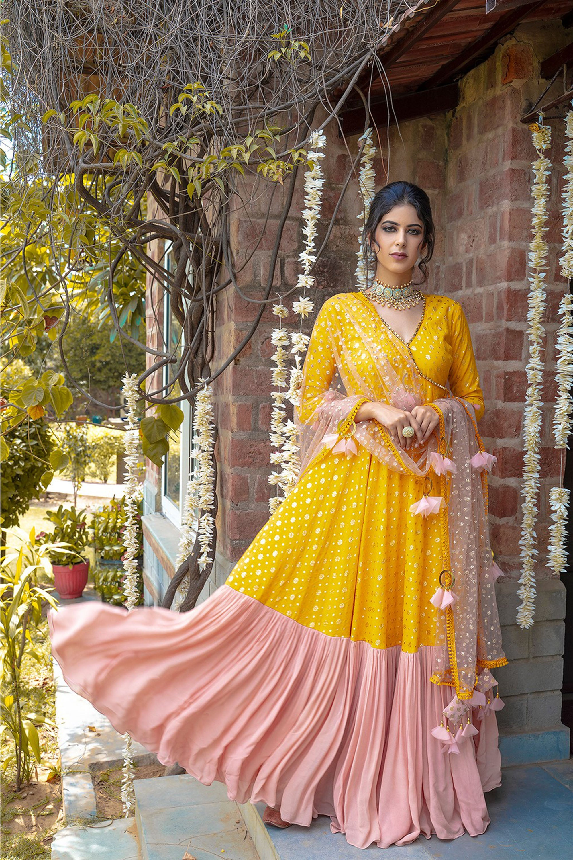 Yellow Angrakha & Dupatta SIDE