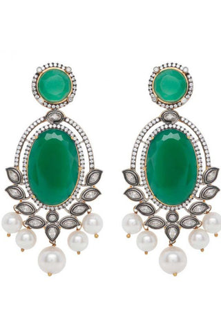 Green Leela Earrings