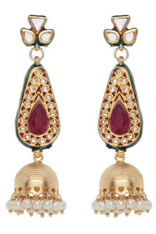 Red Janki Earrings