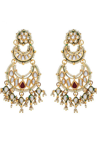 Red Rani Earrings