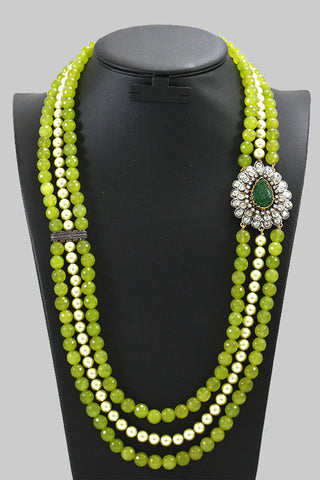 Green Bolly Beaded Necklace