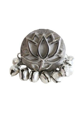 Silver Lotus Leaf Ring