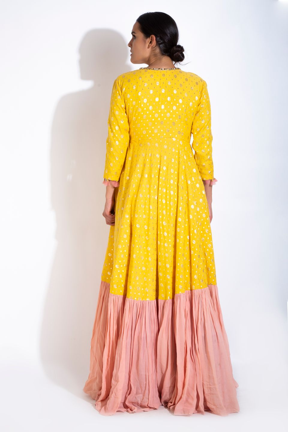 Yellow Angrakha & Dupatta BACK