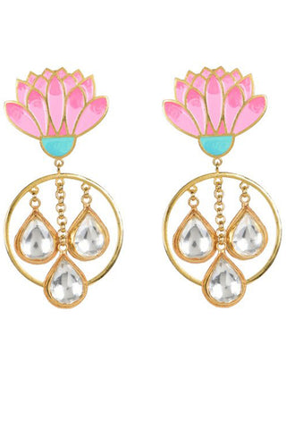 Spring Bloom Jadau Earrings