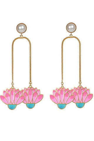 Spring Bloom Pearl Earring