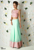 Blush Pink & Mint Green Lehenga Front