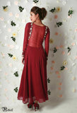 Marsala Anarkali Back