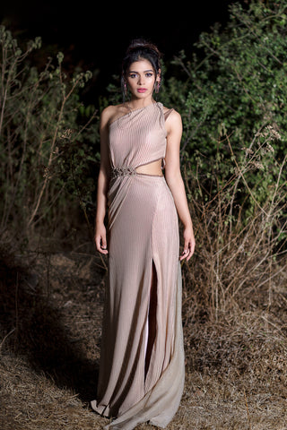 One Shoulder Gown FRONT