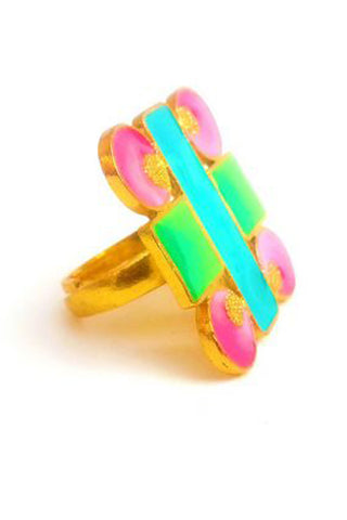 Geometric Enamel Ring