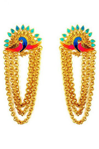 Dance Of The Peacock Earrings