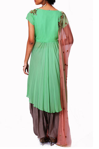 Asymmetrical Dhoti Set