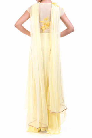 Lemon Yellow Georgette Suit