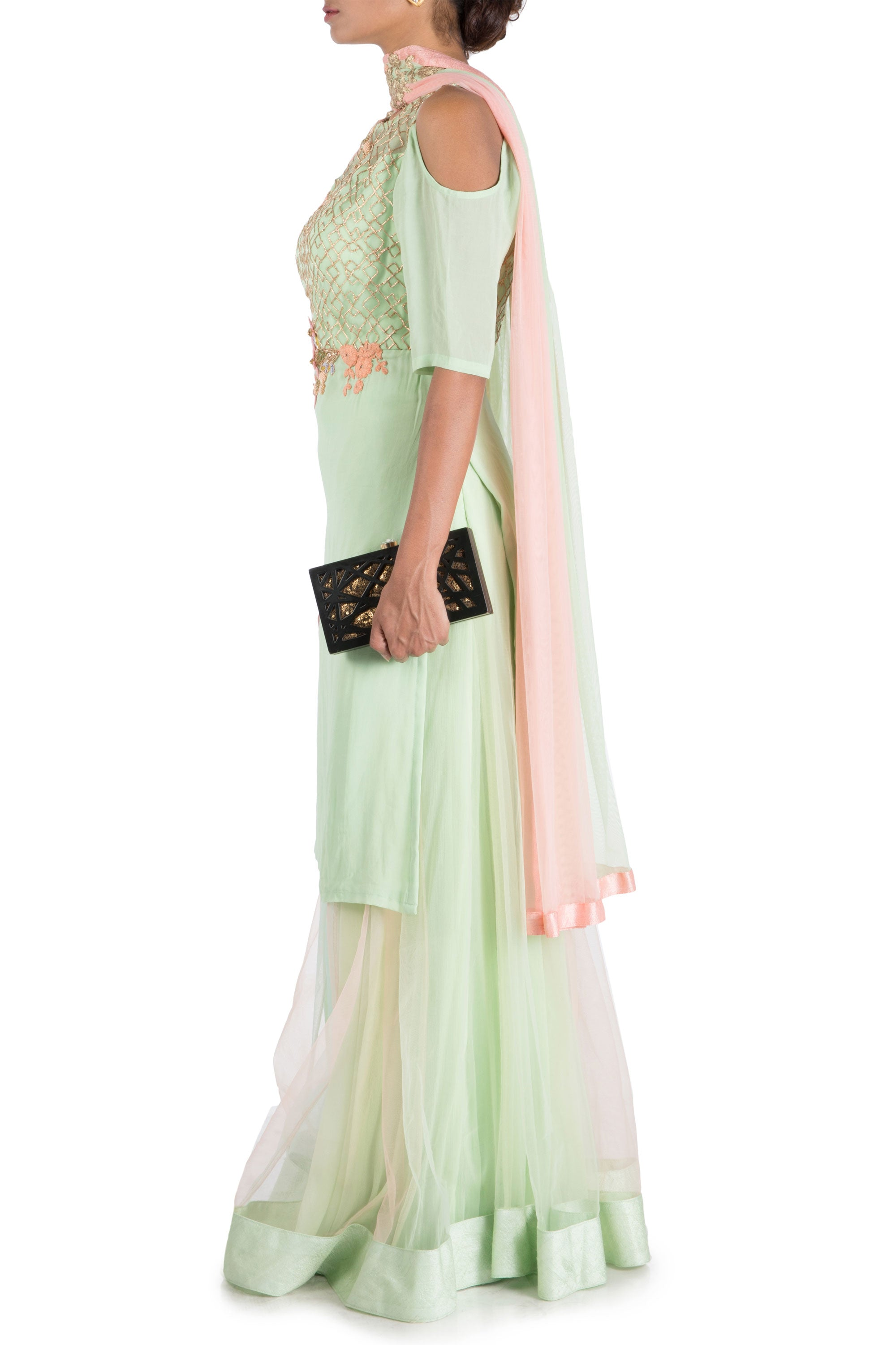 Icy Green Palazzo Set Side