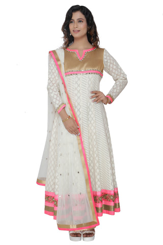 Ivory Anarkali Set With Dupatta FRONT