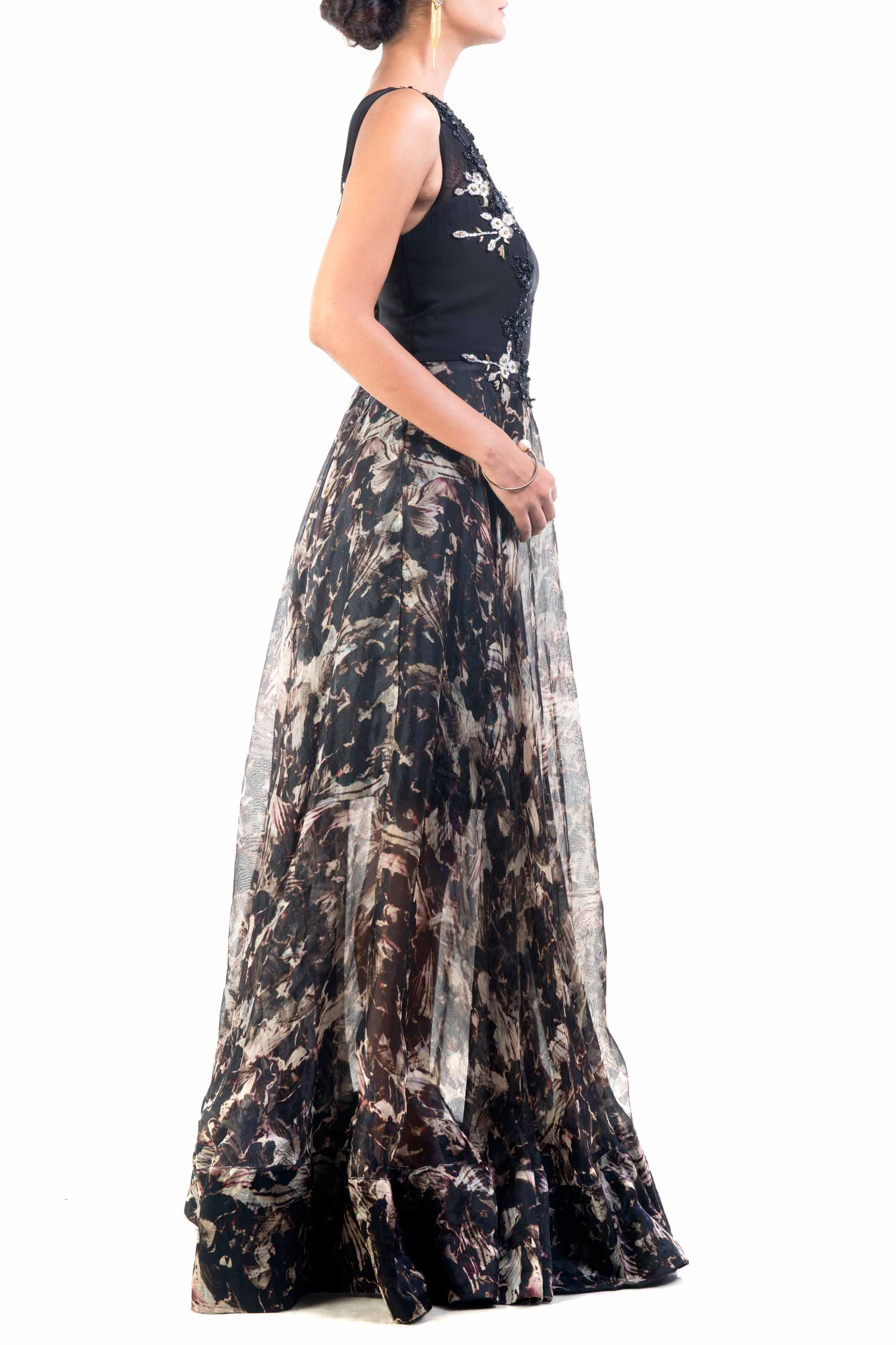Abstract Dream Sheer Gown Side