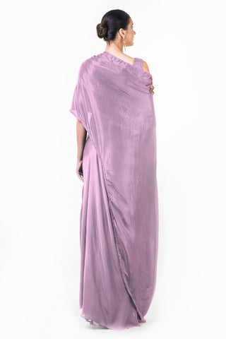 Mauve Draped Gown