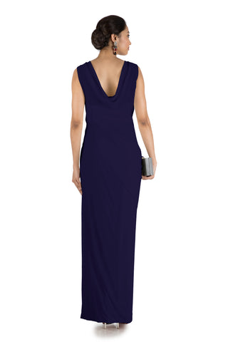 Blue Drape Cocktail Dress