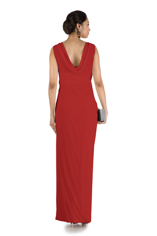Red Drape Cocktail Dress