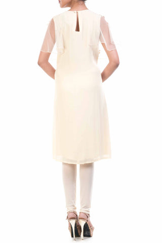 Ivory Georgette Straight Tunic