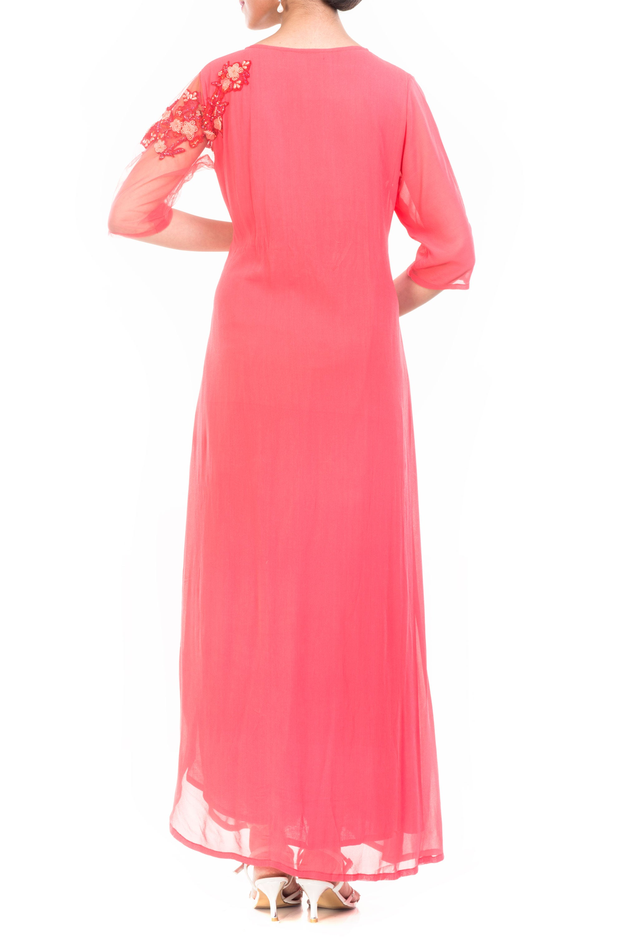 Strawberry Ice Long Length Tunic Back