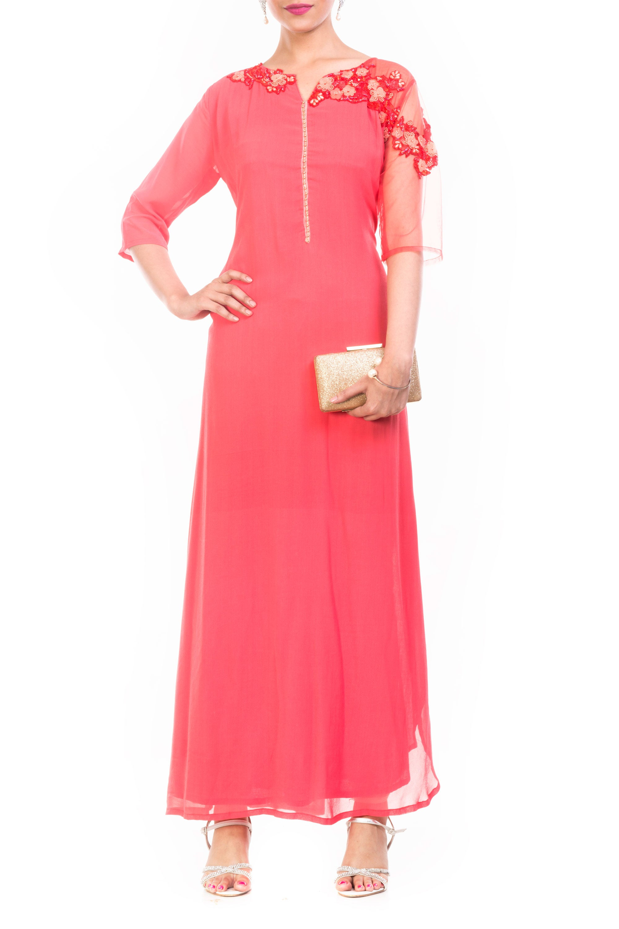 Strawberry Ice Long Length Tunic Front