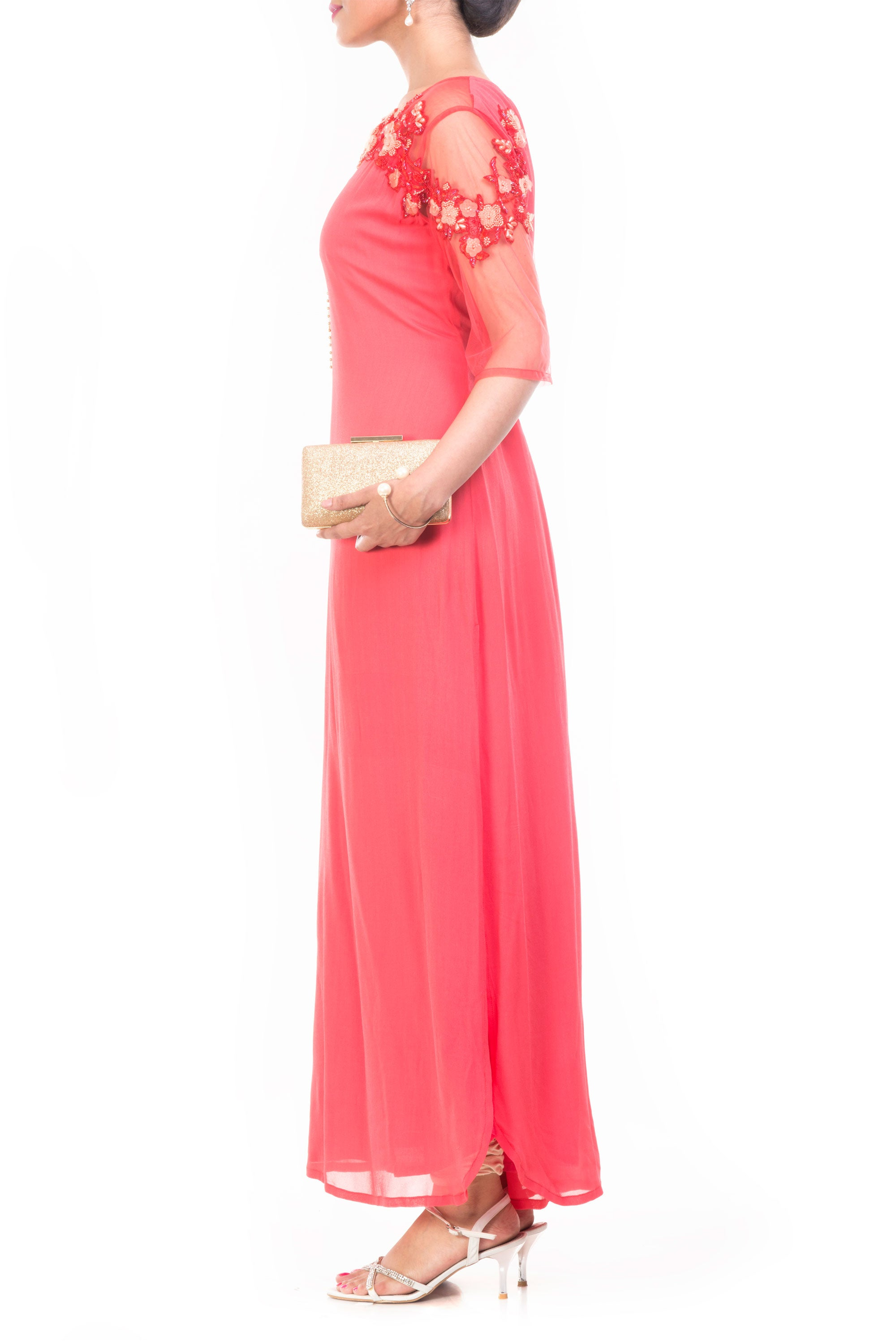 Strawberry Ice Long Length Tunic Side