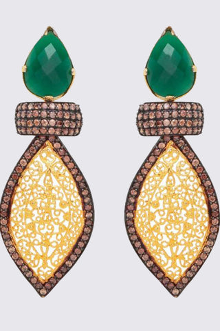 Ariya Earrings In Green