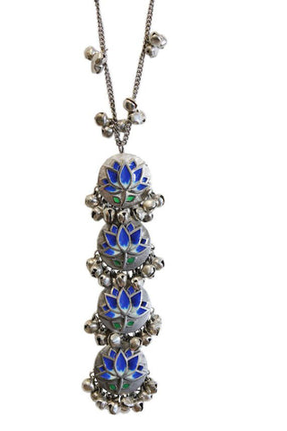 Blue Lotus Long Necklace