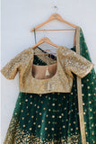 Forest Green Lehenga Set BACK
