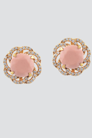 Fia Studs in White, Peach or Dark Grey