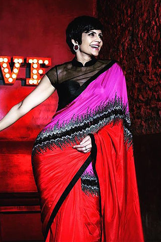 Mandira Bedi Silk Shock Wave Saree