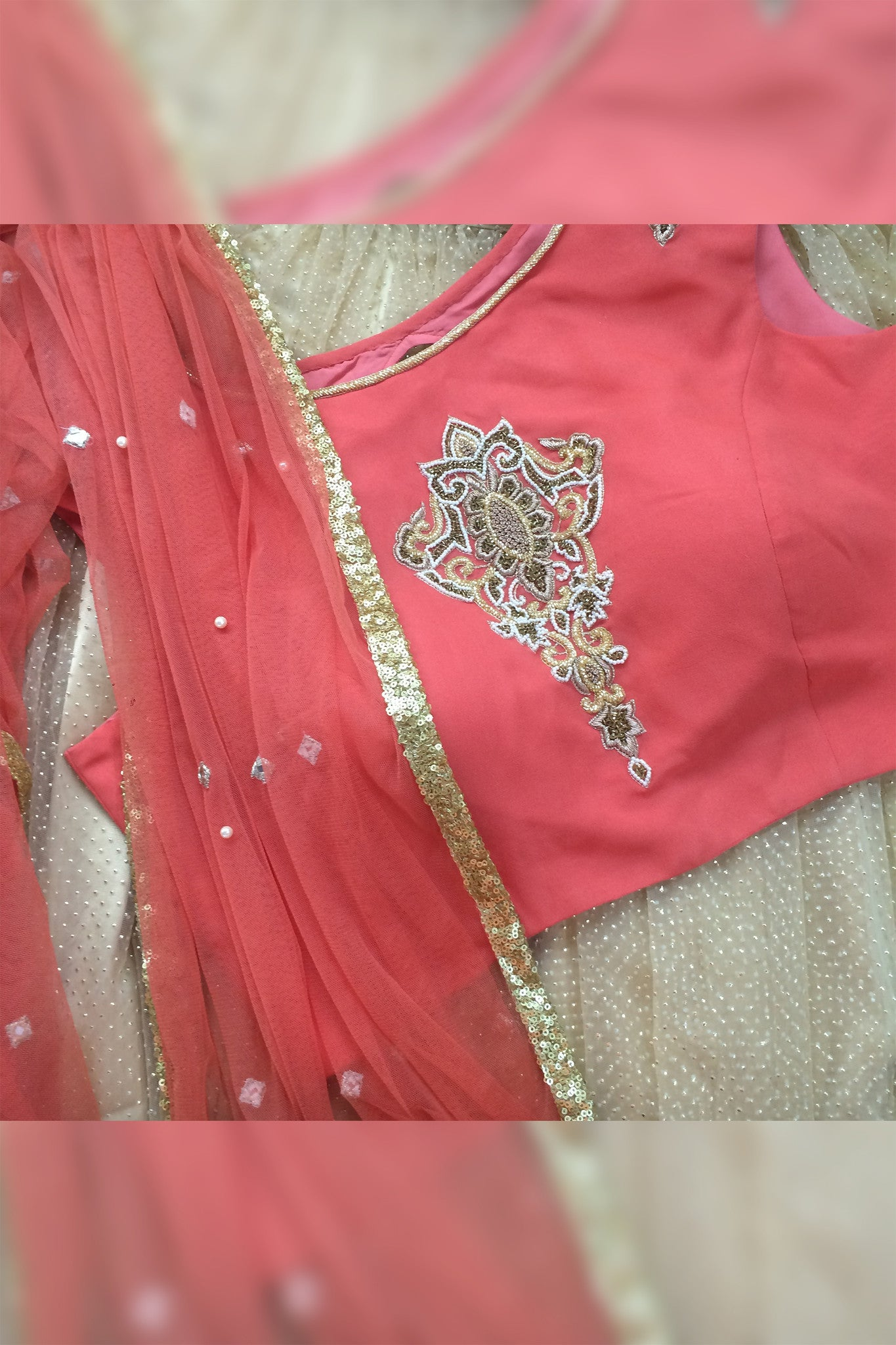 Optional dupatta