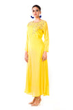 Yellow Sequin Work Silk Tunic Side