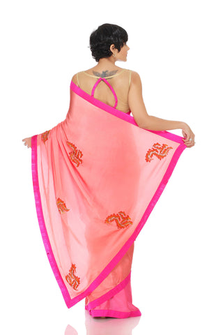 Pink & Peach Saree