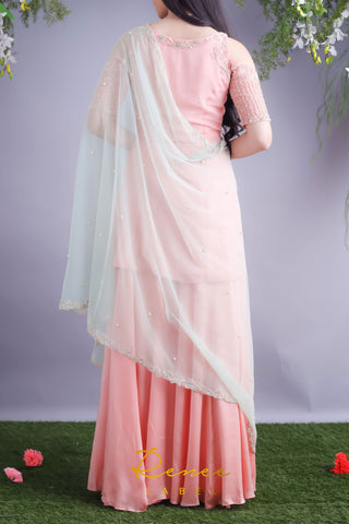 Blush Pink Kurta & Sharara Set
