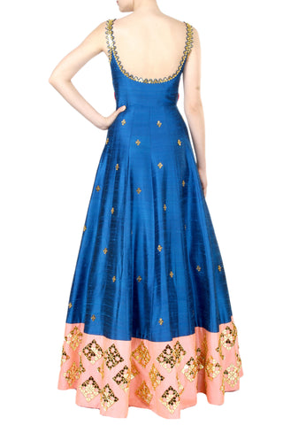 Dark Blue Anarkali Gown