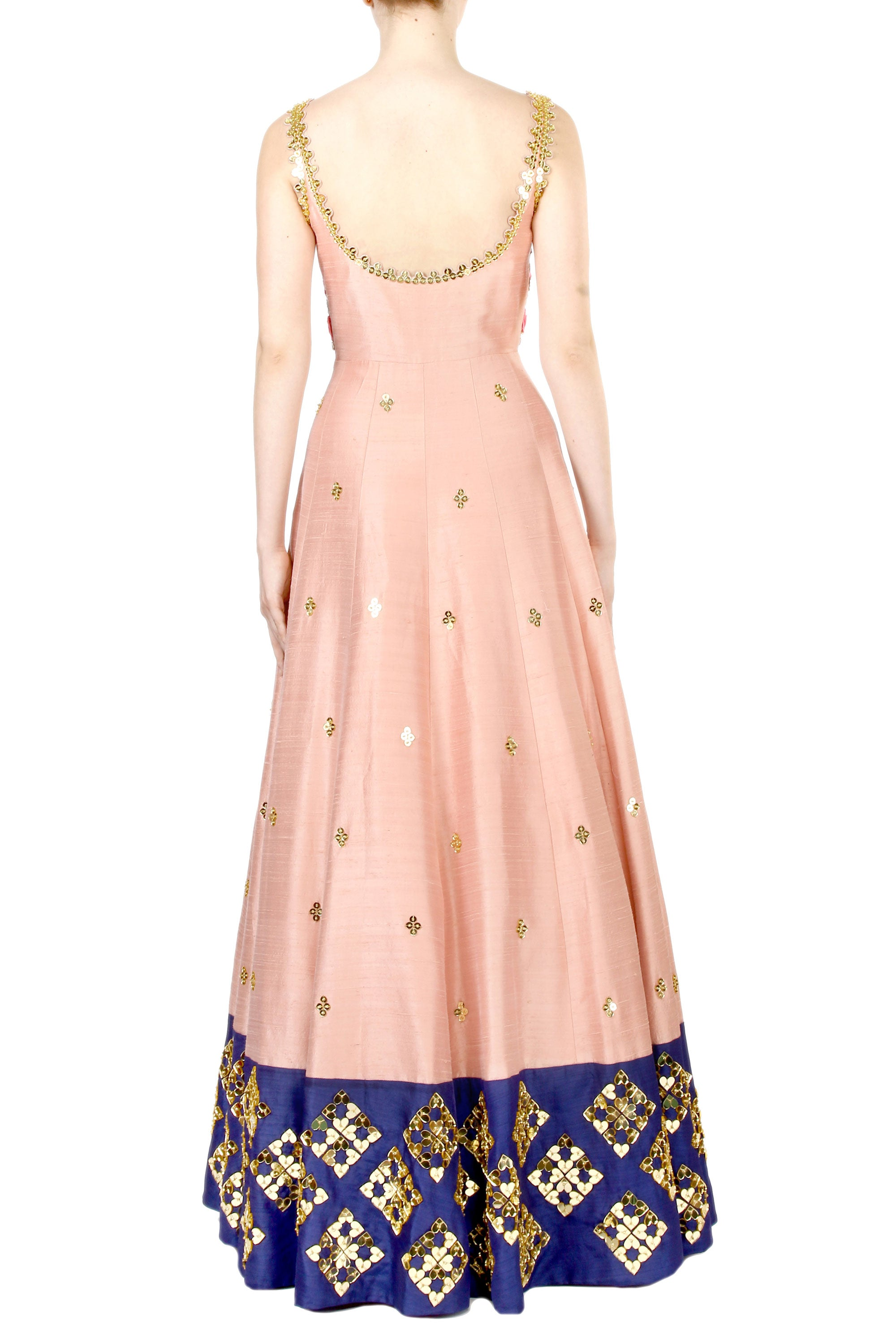 Blush Anarkali Gown Back