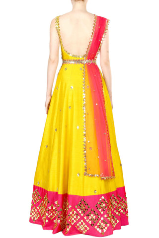Chrome Anarkali Gown