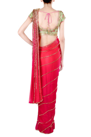 The Madhuri Rose Pink Saree