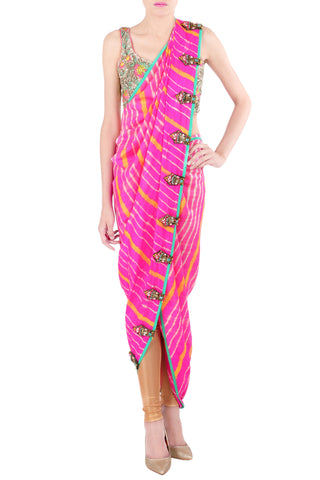 The Miss Malini Kaftan Saree
