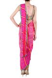 Printed Kaftan Saree Back