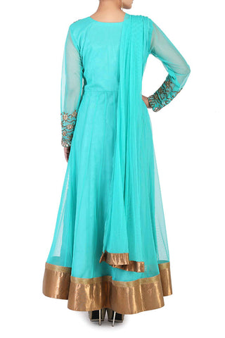 Sea Green Anarkali