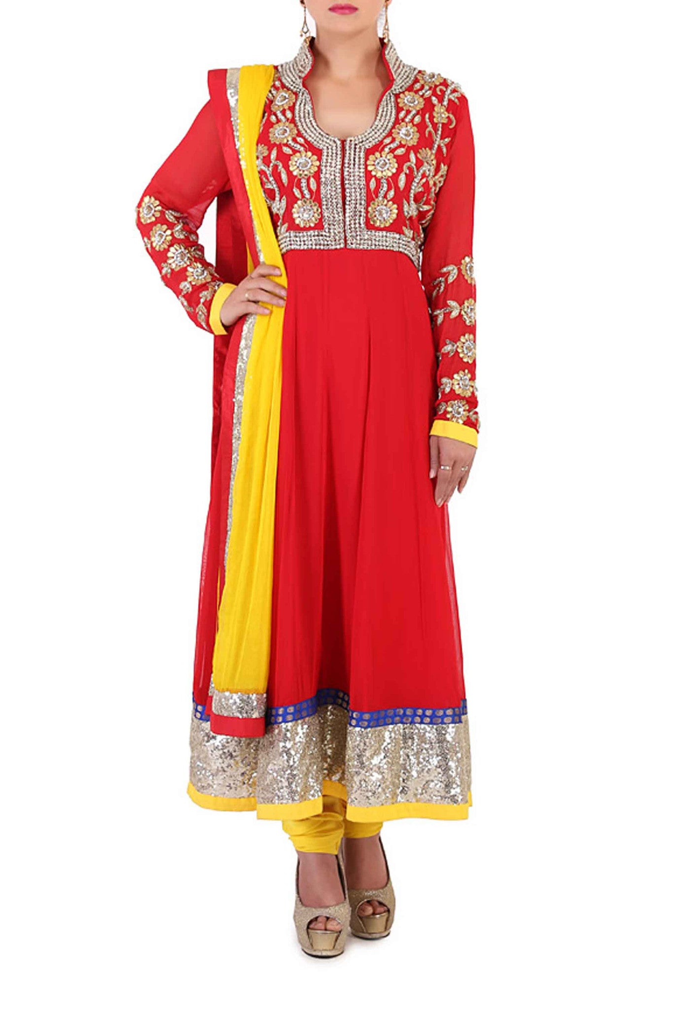 Sangeet Suit Set Front