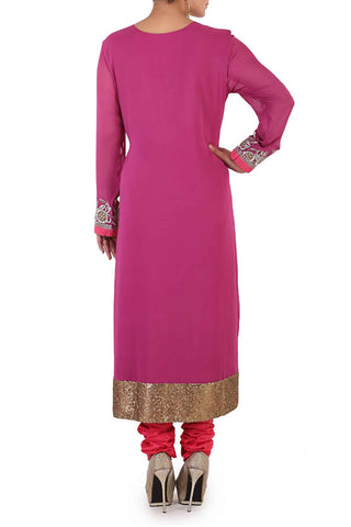 Fuchsia Georgette Suit