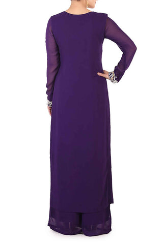 Grape Georgette Suit